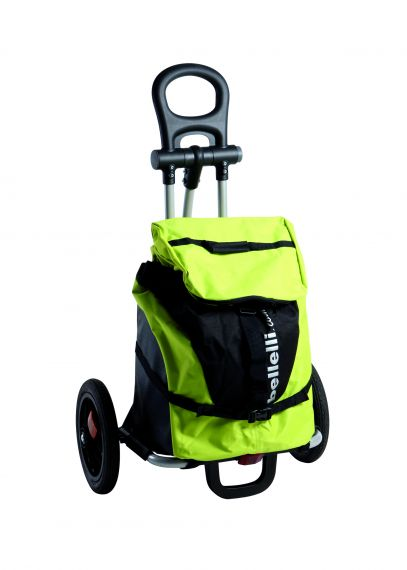 BELLELLI B-TOURIST shopping trolley bike trailer lime