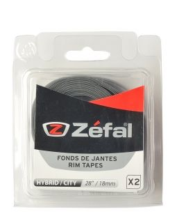 ZEFAL SOFT PVC RIM TAPES - Grey - 29''/28'' 18mm by pair