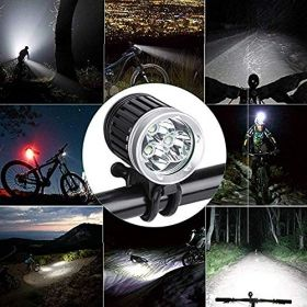 Hi-Tech LED  Bike light CREE XM-L T6 1800lm incl. 4400mAh battery, silicon rings and charger
