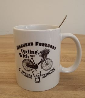 "Bike Mug ""Weekend Forecast"""