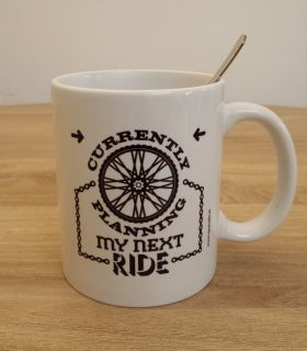 "Bike Mug  ""I don't ride a bike..."""